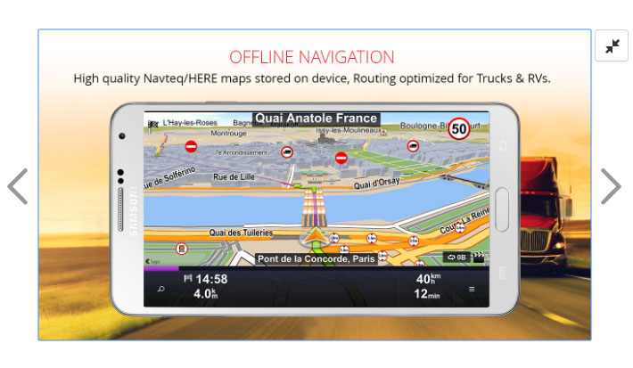 sygic truck android ios